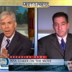 "David Gregory, host of NBC's ""Meet the Press,"" and journalist Glenn Greenwald"