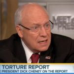 Former Vice President Dick Cheney talked to Meet the Press on NBC