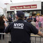 NYPD at Coney Island (photo: Andrew Kelly/Reuters)