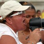 Protesting government shutdown in Puerto Rico