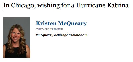 Katrina McQueary: In Chicago, Waiting for a Hurricane Katrina