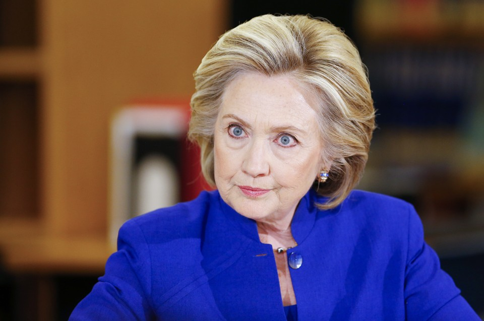 Hillary Clinton (photo: Mike Blake/Reuters)
