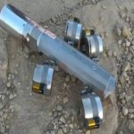 Part of a US-made cluster bomb found in Yemen. (photo: Human Rights Watch)