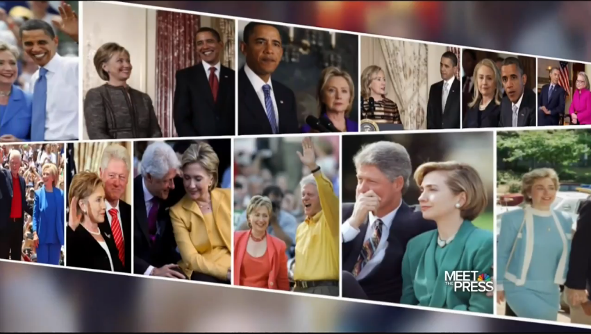 Obama and the Clintons: Meet the Press graphic