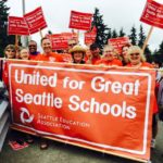 Seattle Education Association banner (photo: Seattle Education 2010)