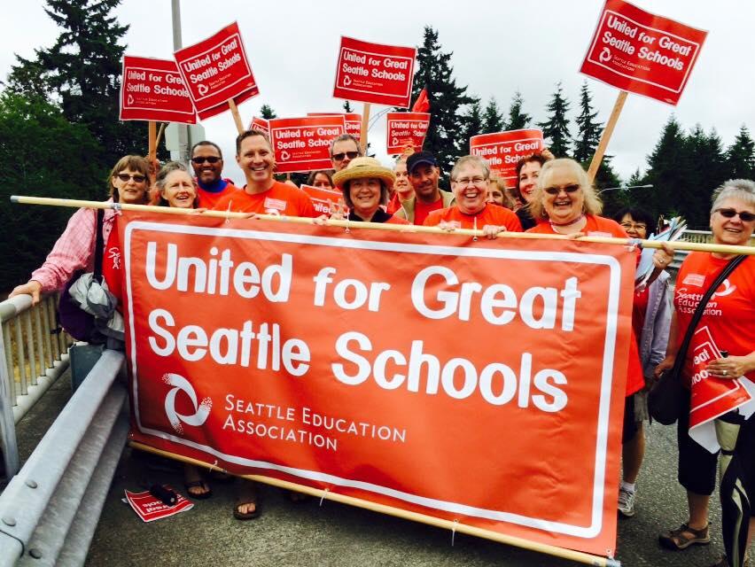 Seattle Education Association banner (photo: Seattle Education 2010)