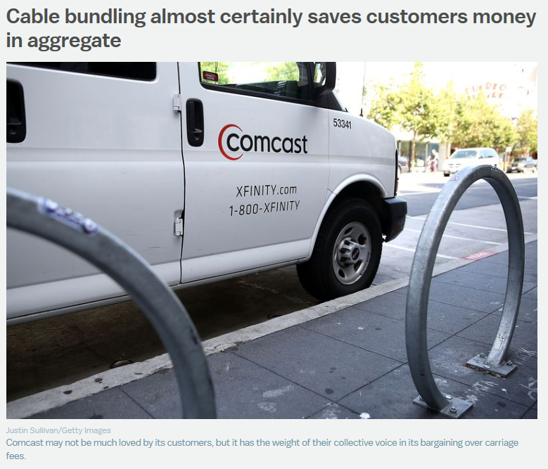 Photo of Comcast truck in Vox article