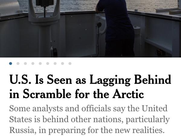 NYT: US Is Seen as Lagging Behind in Scramble for the Arctic