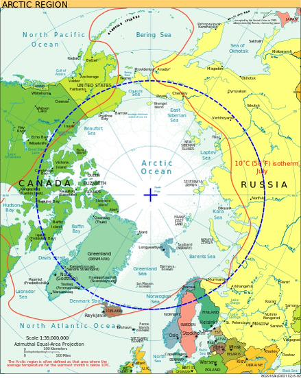The reality is that the US stake in the Arctic is relatively tiny compared to Russia's.