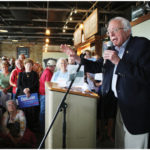 "The New York Times reports that Bernie Sanders is drawing large crowds in Iowa–but warns that Iowans may find him ""unelectable."""