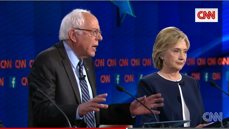Bernie Sanders and Hillary Clinton debate