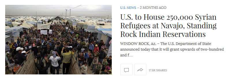 Real News Right Now: 'US to House 250,000 Refugees'