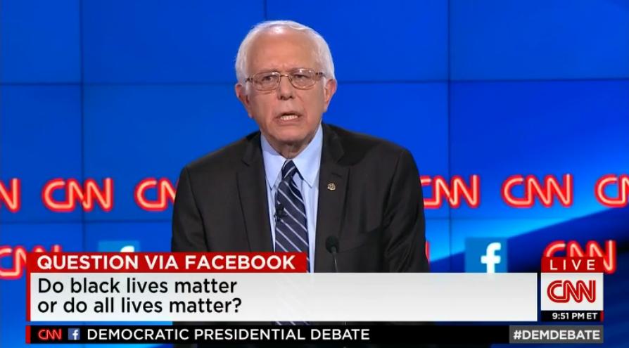 Bernie Sanders at CNN Democratic debate