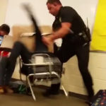 Sheriff deputy Ben Fields body-slamming a 16-year-old student at Spring Valley High School, Columbia S.C. (YouTube)