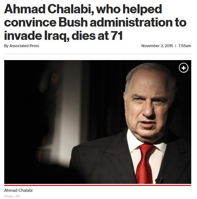 New York Post: Chalabi obituary