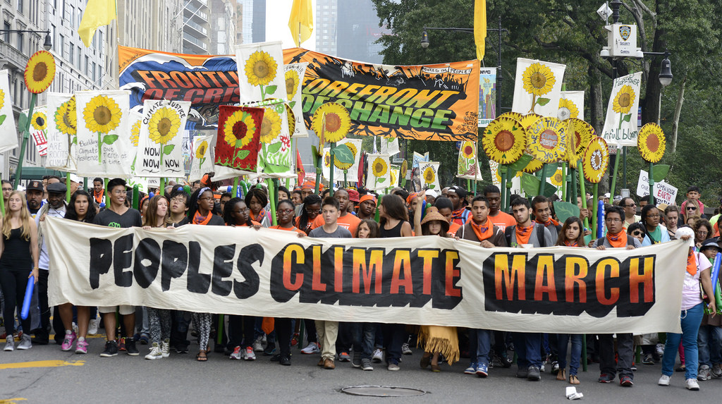 Peoples Climate March, 2014 (cc photo: Stephen Melkisethian)