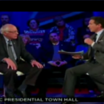 Chris Cuomo confronts Bernie Sanders at CNN town hall (Image: Young Turks)