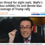Daily Kos: WaPo's Chris Cillizza Exhibits His Anti-Bernie Bias