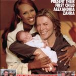 Hello!: David Bowie, Iman and child