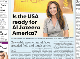 USA Today: Is the USA ready for Al Jazeera America?