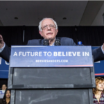 Bernie Sanders in the Washington Post (image: Brendan Hoffman/Getty Images)
