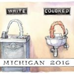 Michigan 2016: White and Colored drinking fountains