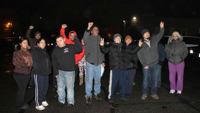 Boston Globe delivery workers rally (photo: North Shore Labor Council)