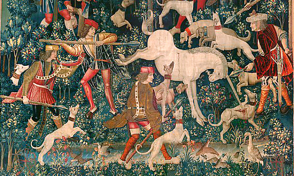 Detail from The Unicorn Defends Itself (The Cloisters)