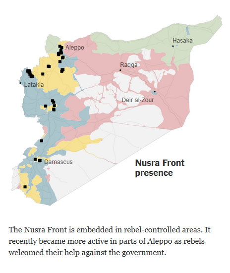 New York Times: Nusra Front presence
