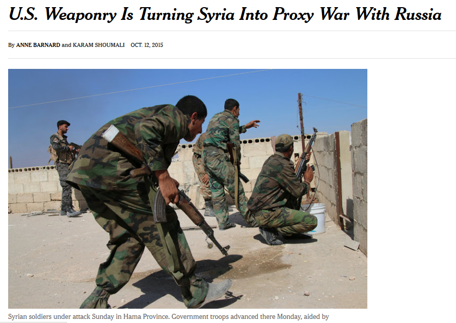 NYT: US Weaponry Is Turning Syria Into Proxy War With Russia